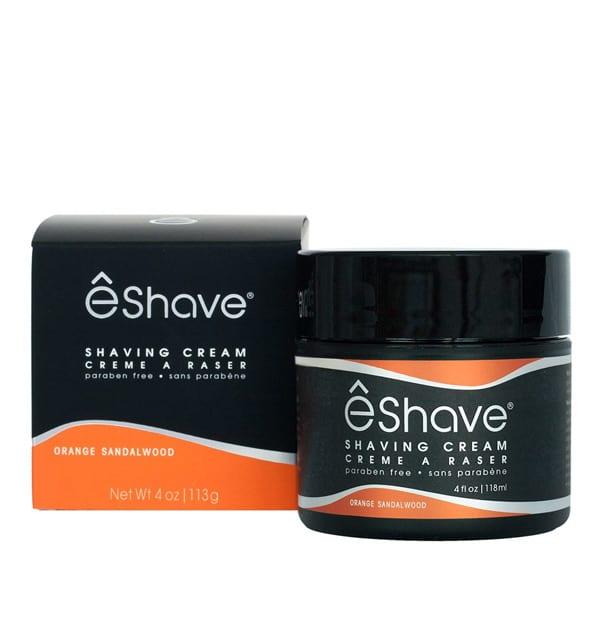 eshave orange sandalwood shaving cream 4 oz boxed
