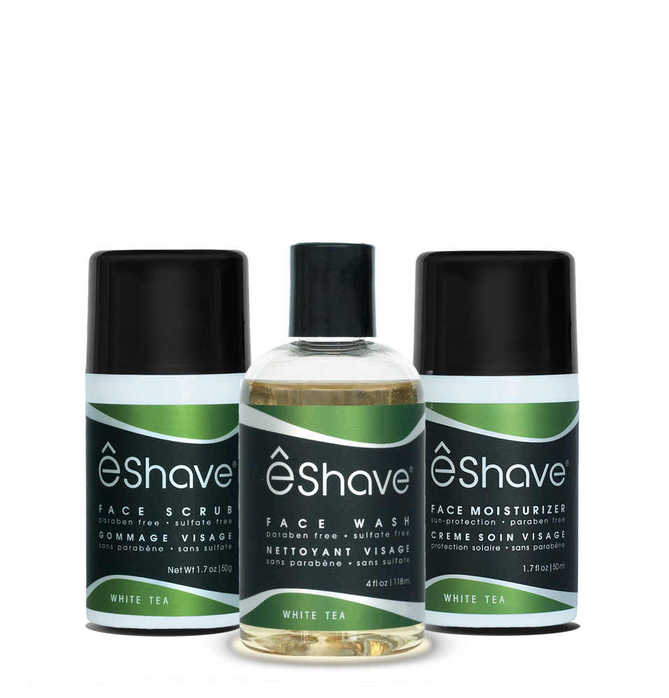 eshave set of skincare products for men