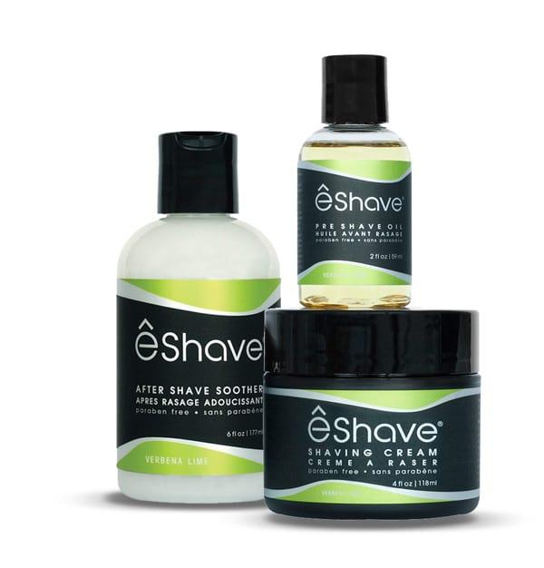 eshave shaving product set lime verbena