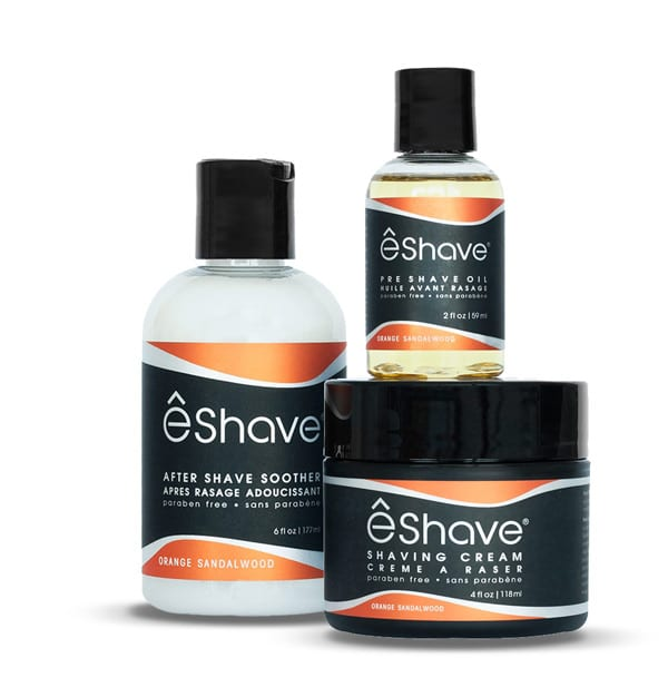 eshave shaving product set orange sandalwood