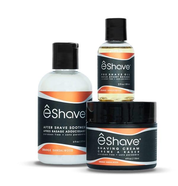 eshave shaving product set orange sandalwood