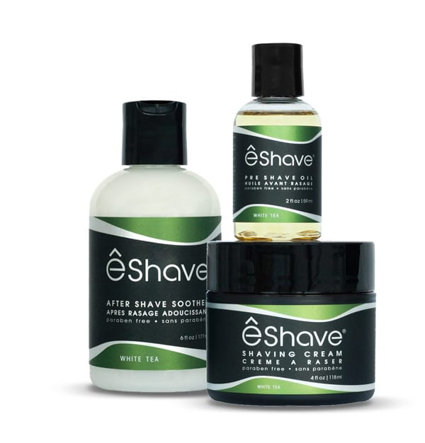 eshave shaving product set white tea