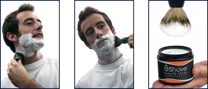 Shave with a Badger Hair Shaving brush and a Shaving Cream is essential for the Best Shave Ever!