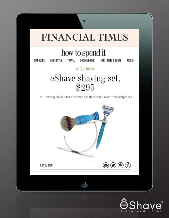 financial time UK featured eshave shaving stand set gift guide
