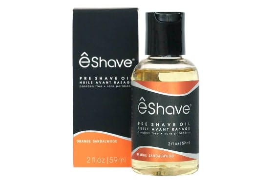 Bottle of eShave Pre Shave Oil