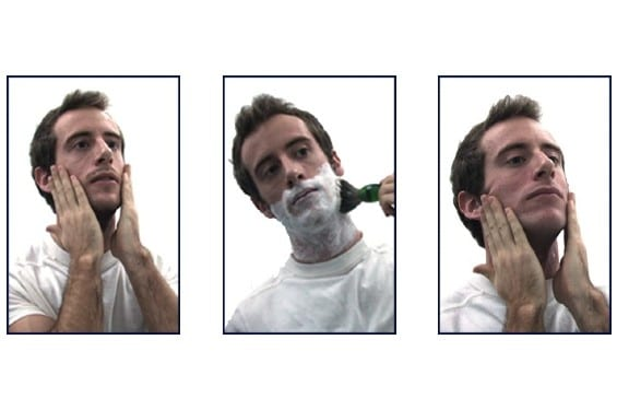 Man Applying eShave Shaving Products