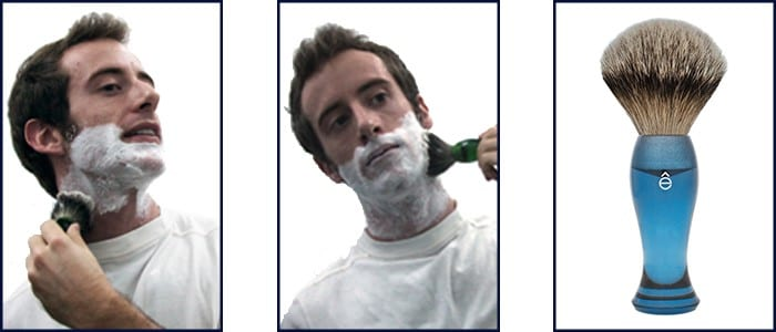 Steps for Using a Shaving Cream Brush